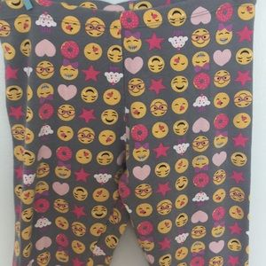 Faded Glory Pants - Emoji leggings